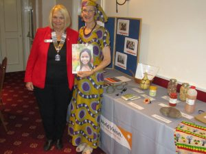 Sue Tinney of World Vision with President Jackie