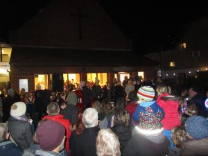 Carol singing in the square