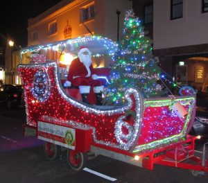 Santa arriving in Emsworth