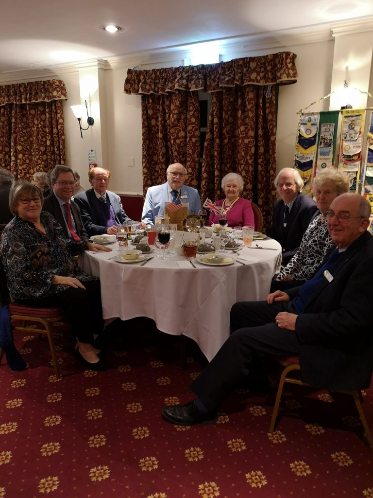 President's table, Colin Chambers 3rd from left